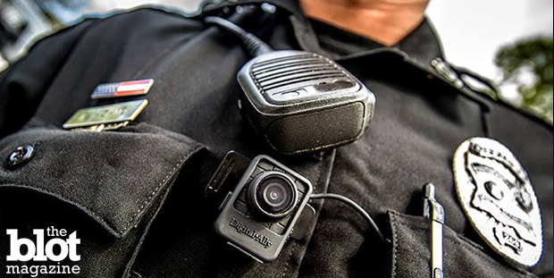 California cops are reporting a drop in use of force incidents in agencies where officers are wearing body cameras, according to recent reports. (Digital Ally, Inc. photo)