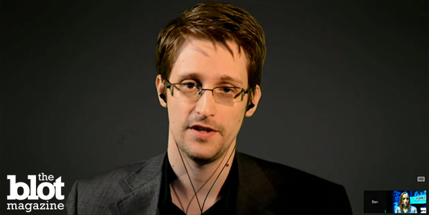 At the Nordic Media Festival Friday, whistleblower Edward Snowden praised an appellate court's ruling that found the controversial NSA phone record program was illegal under the law. Here Snowden speaks via online chat with Forbes contributor Runa Sandvik during the event. (NMD-TV photo)