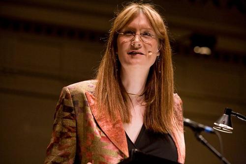 Jenny Boylan at a speaking engagement. (Photo courtesy Jennifer Finney Boylan)