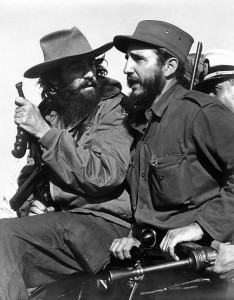 Fidel Castro (right)