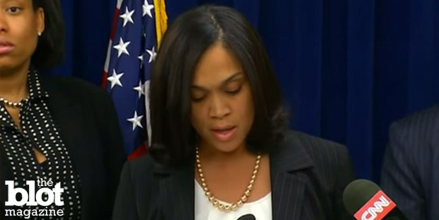 Maryland State Attorney Marilyn Mosby announces fresh charges against six Baltimore police officers in connection with the death of 25-year-old Freddie Gray on May 21, 2015. (WBAL-TV photo)