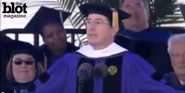 With commencement in the rearview, we recall some very inspiring graduation speeches that were given by some very smart and very successful people, such as Stephen Colbert, who dropped the word 'brothel' into his commencement speech.