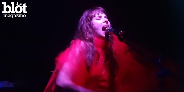Led by Teri Gender Bender, Le Butcherettes is known for being wild live, and our Jason Gross caught the Mexican punk outfit in the act Monday in New York. (Photo by Jason Gross)