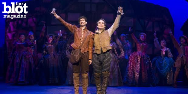 "We talked with John Cariani, left, one of the stars of the Tony-nominated ""Something Rotten!"" about the musical, his acting career and success as a playwright. (Photo courtesy of 'Something Rotten!')"