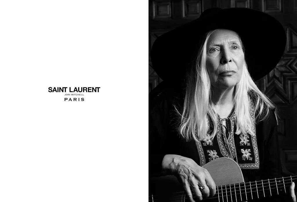 Joni Mitchell for Saint Laurent