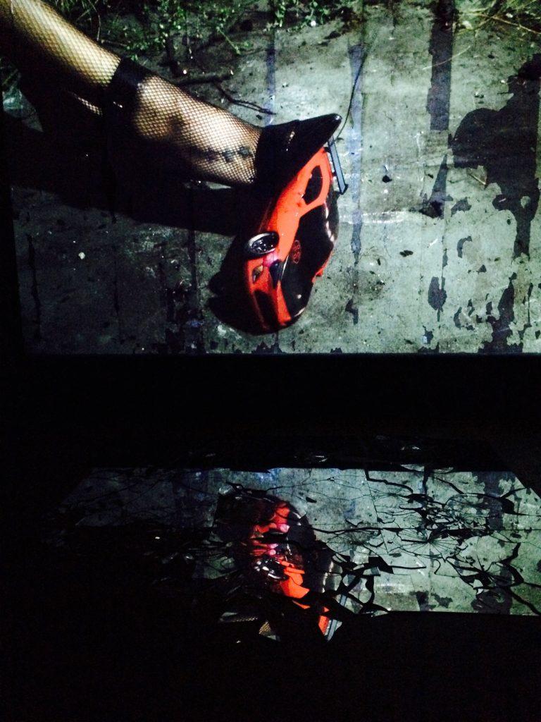 A screen capture of Klein's 'Killer Heels' video. (Photo by Gazelle Paulo)