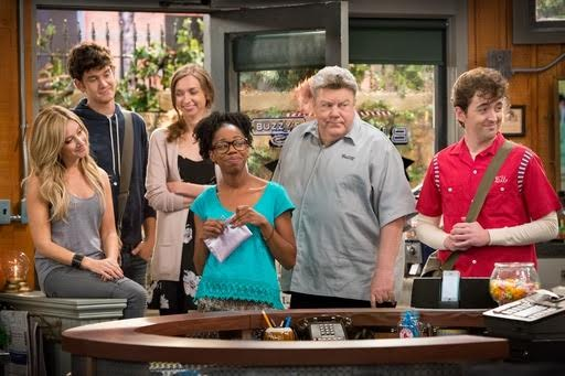 Reasonover and the cast in a scene from 'Clipped.' (TBS photo)