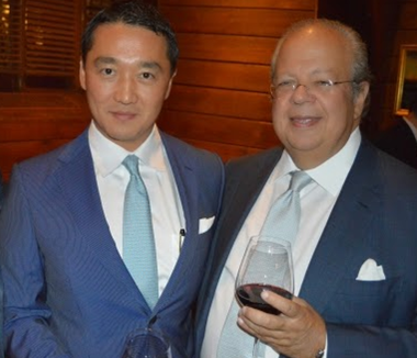 Benjamin Wey with the Swedish Counsel General of New York