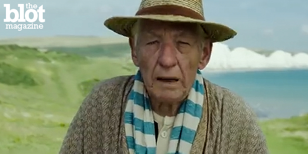 July's movies run the gamut from Robin Williams' touching final role in 'Boulevard' to Ian McKellen, above, as an elder 'Mr. Holmes' to scrappy 'Minions' and more. (Photo from 'Mr. Holmes' trailer)