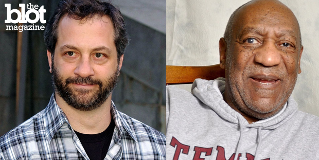 Jeff Myhre disagrees with Judd Apatow saying that the Bill Cosby scandal is the worst thing to happen in show biz as history shows the biz has quite a dark past. (Wikipedia photos)