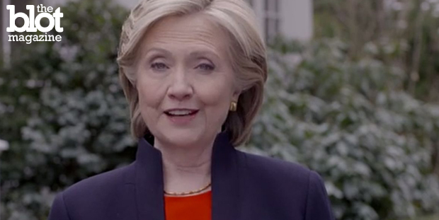 During a speech in Des Moines, Iowa, Monday, Hillary Clinton announced her presidential campaign's ambitious plans to tackle climate change. (Photo courtesy Hillary Clinton campaign video)