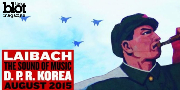 Slovenian rock group Laibach will play the first rock concert ever held in North Korea as part of the country's Liberation Day celebration on Aug. 15. Above is one of the band's promotional posters for the show. (Laibach photo)