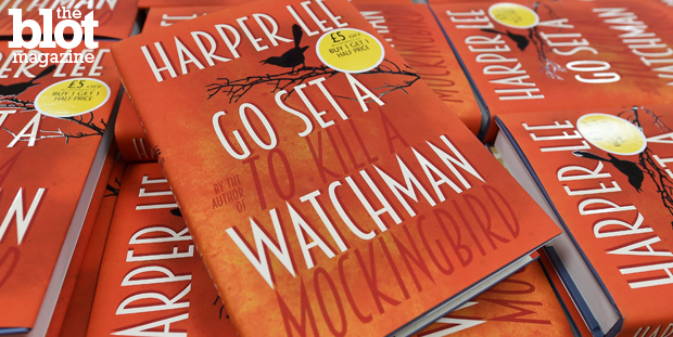 Harper Lee's 'Go Set a Watchman' is truer to the race struggle that was happening in the mid-20th century than its predecessor 'To Kill a Mockingbird.' Above, copies of 'Watchman' for sale in London. (© Andy Rain/epa/Corbis photo)