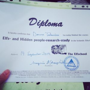 iceland elf school diploma donna talarico