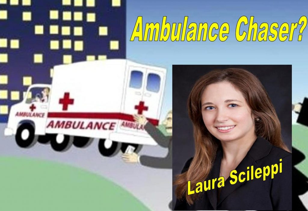 LAURA SCILEPPI, DUNNEGAN SCILEPPI, IP LAWYER, AMBULANCE CHASER