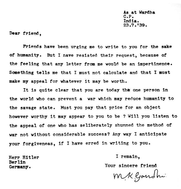 Letter Ghandi