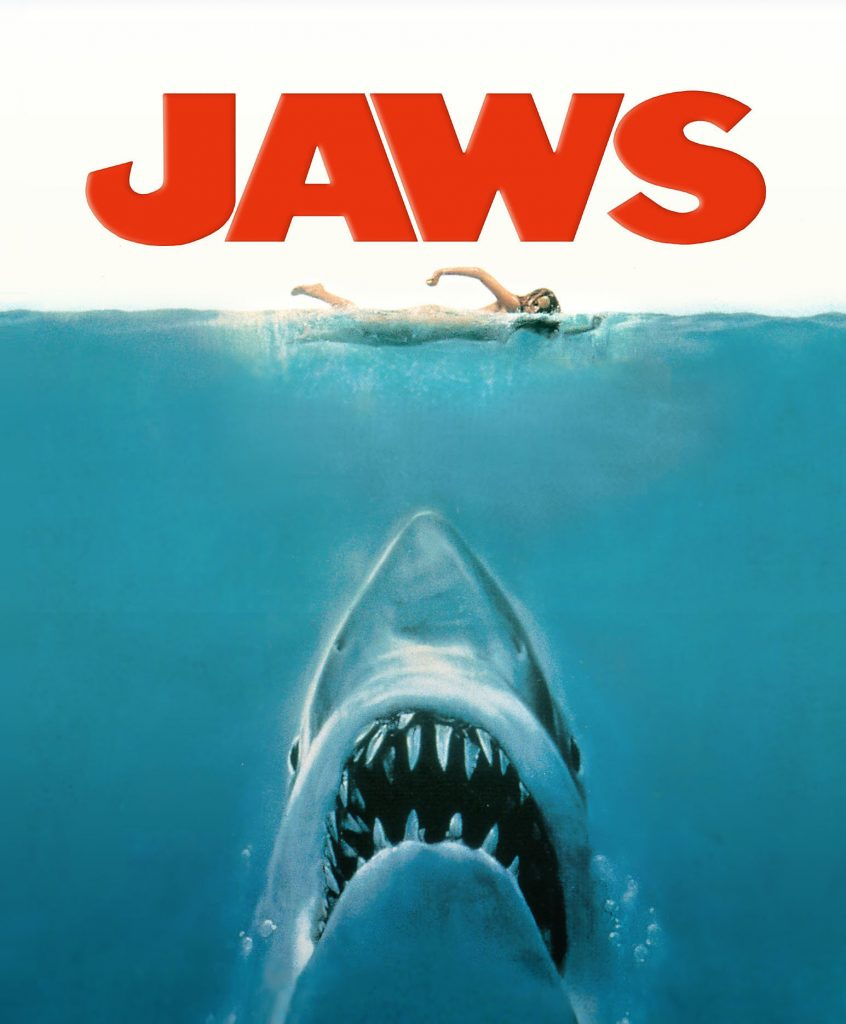 The poster for Steven Spielberg's 'Jaws,' which celebrates its 40th anniversary this summer. (Wikipedia photo)