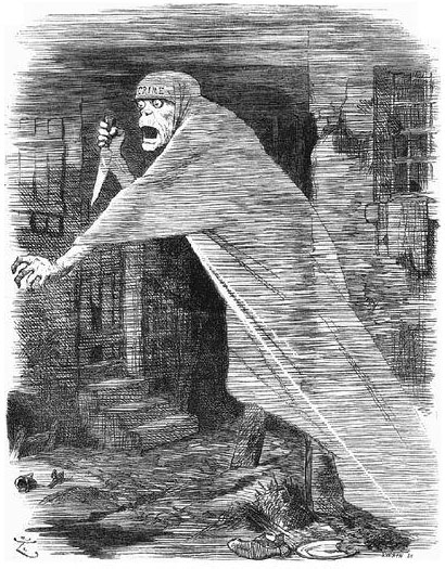 Psycho, Jack the Ripper, Punch cartoon, 1888.