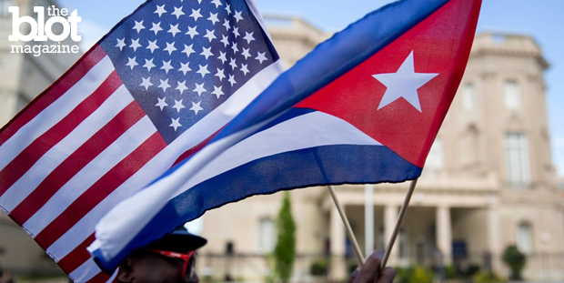 The American flag was raised at the U.S. embassy in Cuba for the first time in 54 years Friday, opening the door for a new relationship with the country. (nbcnewyork.com photo)