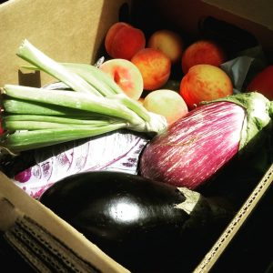Each week, I get a big box of veggies. I don't want to waste them! (photo by Erin L. Nissley)