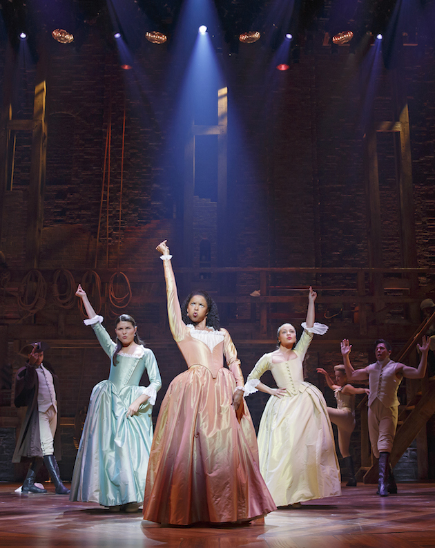 Phillipa Soo, Renee Elise Goldsberry and Jasmine-Cephas-Jones. (newyorktheater.me photo)