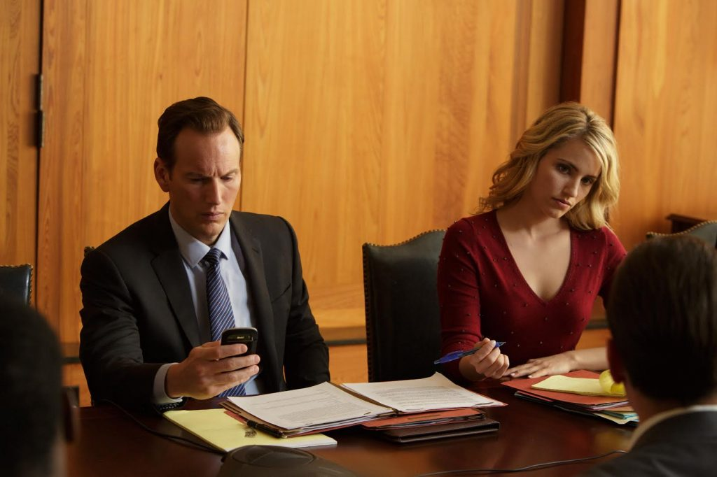 Wilson and Dianna Agron in a scene from the film. (Photo courtesy of 'Zipper')