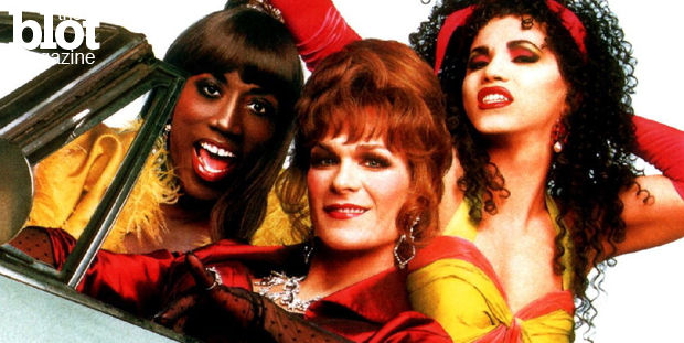 As 'To Wong Foo, Thanks For Everything! Julie Newmar' turns 20 this week, we compare the cliched classic to today's trans and LGBT-friendly pop culture. (Photo courtesy 'To Wong Foo')