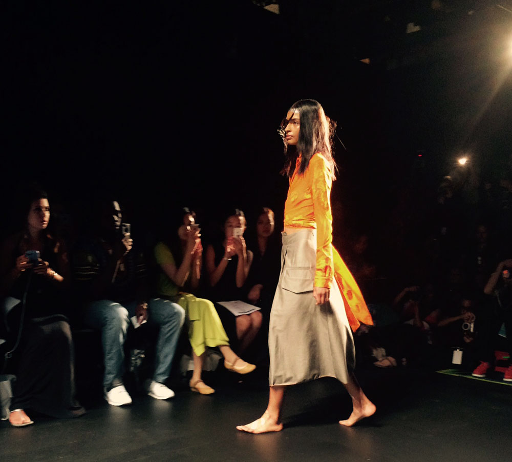 Orange on the Francesca Liberatore's runway. (Photo by Gazelle Paulo)
