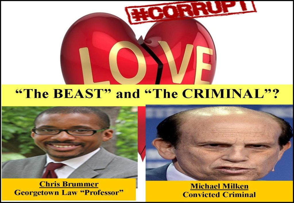 CHRIS BRUMMER, GEORGETOWN PROFESSOR, MICHAEL MILKEN, CFTC SPONSOR FRAUD
