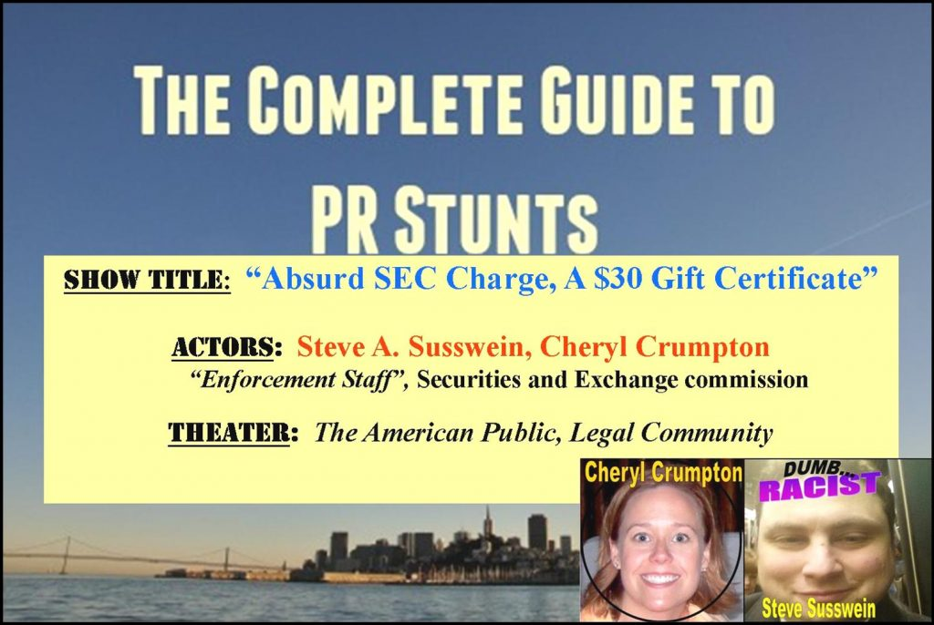 SEC STAFF CHERYL CRUMPTON, STEVEN SUSSWEIN IMPLICATED IN RODDY BOYD SHORT SELLER FRAUD