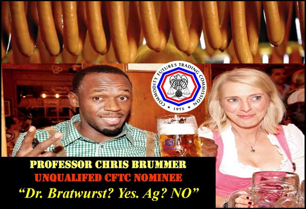 PROFESSOR CHRIS BRUMMER, CFTC NOMINEES NO AGRICULTURE EXPERIENCE