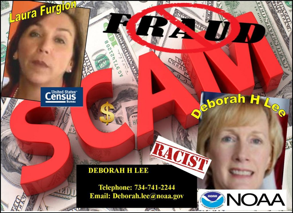 DEBORAH H LEE, NOAA, GREAT LAKES, LAURA FURGIONE, NOAA, US CENSUS BUREAU, DEPUTY DIRECTOR, SHERRY CHEN, ASIAN AMERICAN, CHINESE ESPIONAGE, RACISM, RACIAL PROFILING, COMMERCE DEPARTMENT, FRAUD