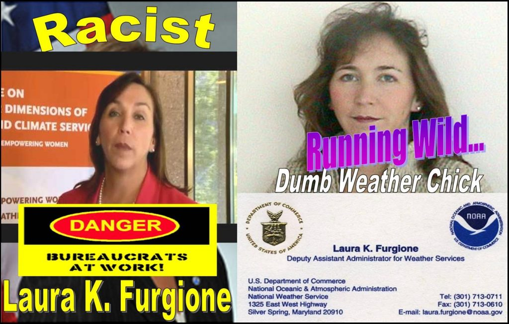 LAURA K. FURGIONE, NATIONAL WEATHER SERVICE, IMPLICATED IN FRAUDS, RACIAL PROFILING