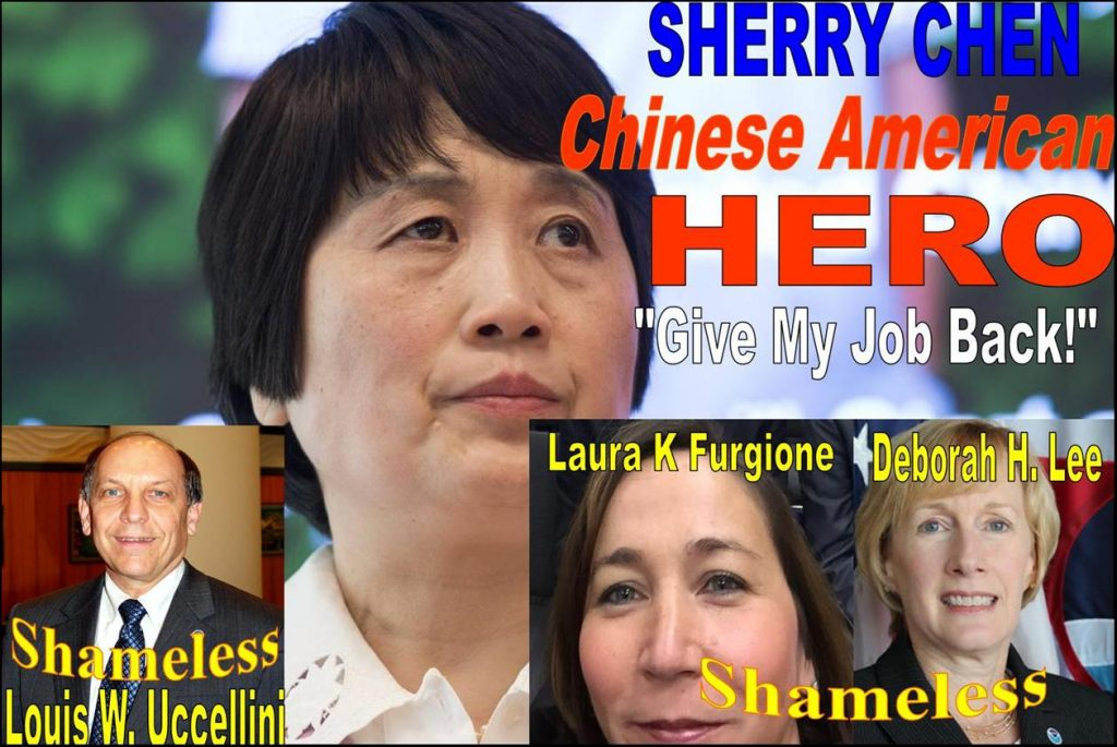 LOUIS W. UCCELLINI, DEBORAH H LEE, LAURA K FURGIONE, NOAA, IMPLICATED SHERRY CHEN SPY SCANDAL
