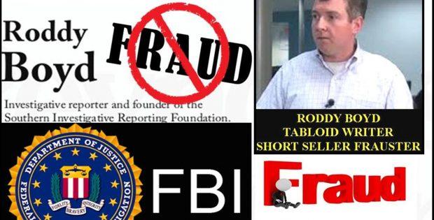 Sham SOUTHERN INVESTIGATIVE REPORTING FOUNDATION (SIRF), RODDY BOYD FBI Crossfire
