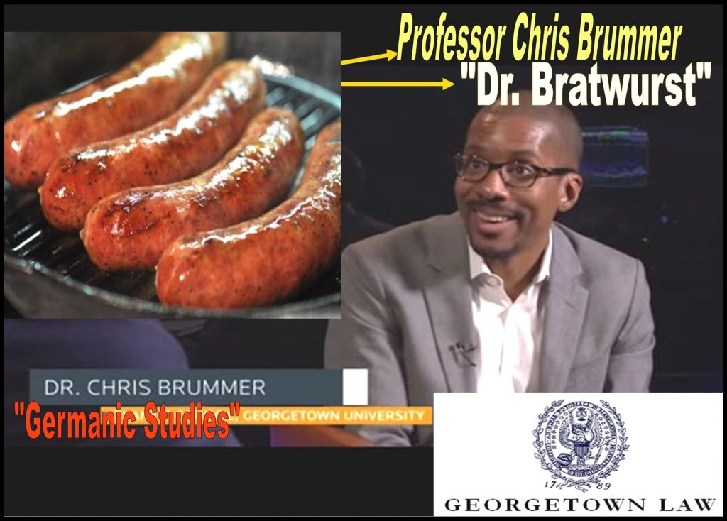 FINRA NAC, GEORGETOWN LAW PROFESSOR CHRIS BRUMMER, DR BRATWURST, GERMANIC STUDIES