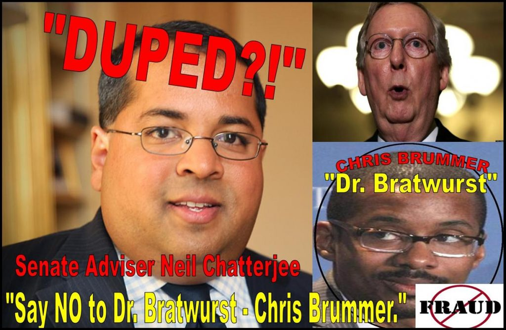 SENATOR MITCH MCCONNELL ADVISER NEIL CHATTERJEE IMPLICATED IN CFTC NOMINEE CHRIS BRUMMER FRAUD