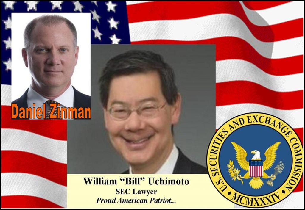 DANIEL ZINMAN, ROCHARDS KIBBE ORBE LAWYER, WILLIAM UCHIMOTO LAWYER FIGHT BACK SEC ABUSE DEREK BENTSEN