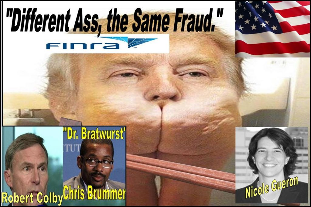 NICOLE GUERON, ROBERT COLBY, CHRIS BRUMMER, FINRA NAC, FRAUD, ABUSE