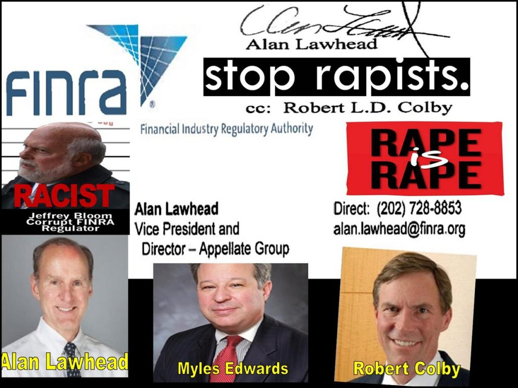 Alan Lawhead, Michael Garawski, Robert L D Colby, Jeffrey Bloom, William Park, Charles Senatore, Chris Brummer, FINRA, FINRA NAC, Myles Edwards, Shufro Rose