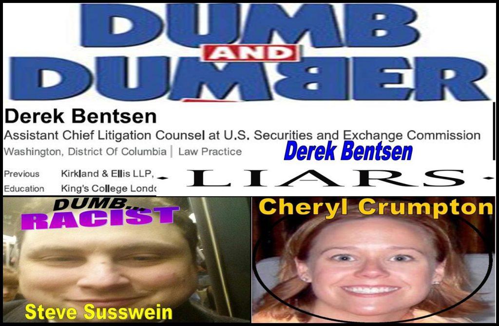 Derek Bentsen, Steven Susswein, Cheryl Crumpton, Melissa Hodgman, SEC bureaucrats implicated fraud