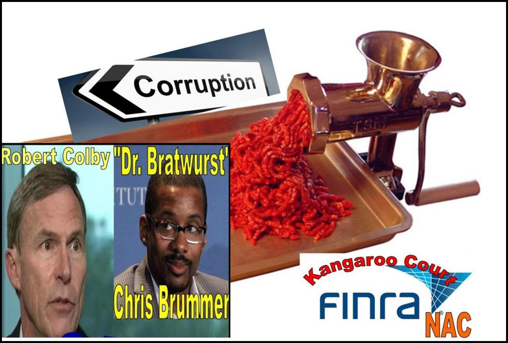 GEORGETOWN PROFESSOR CHRIS BRUMMER SUED FOR FRAUD, BROKER TALMAN HARRIS FIGHTS FINRA NAC 'MEAT GRINDER'