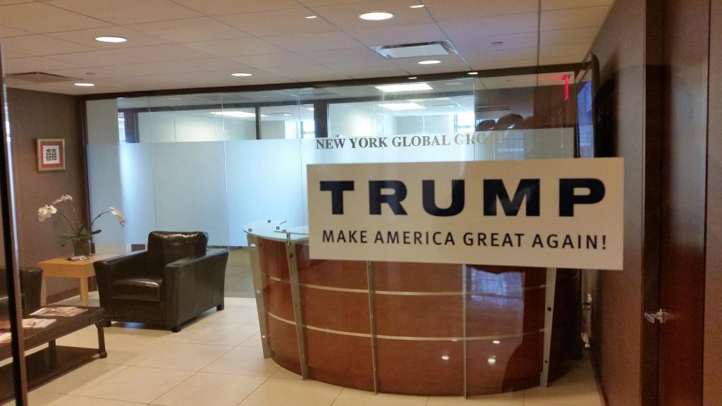 NEW YORK GLOBAL GROUP supports Donald Trump since summer 2015