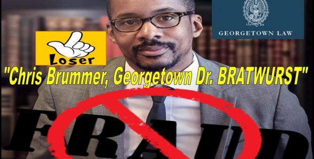 "The notorious Georgetown Law School nutty professor Chris Brummer has a moronic degree in ""Germanic Studies"""