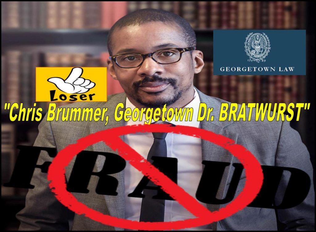 "The notorious Georgetown Law School nutty professor Chris Brummer has a moronic degree in ""Germanic Studies"""