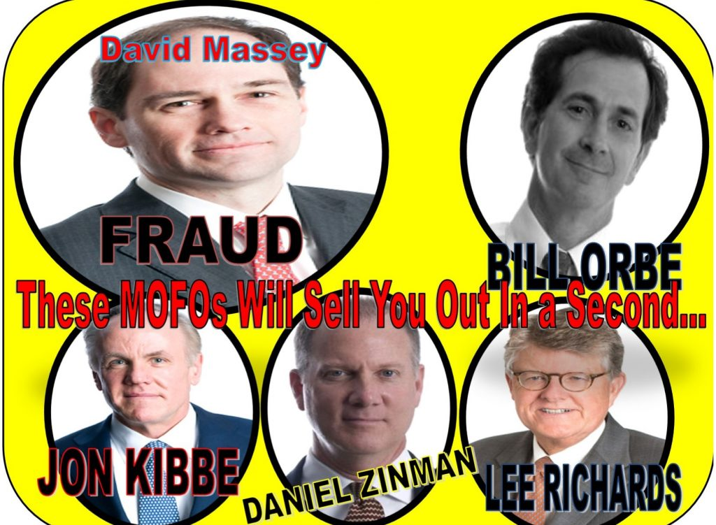 DAVID MASSEY, LEE RICHARDS, BILL ORBE, JON KIBBE, DANIEL ZINMAN, ROWAN GAITHER, RICHARDS KIBBE ORBE, LAWYER, WILLIAM UCHIMOTO, TRACY TIMBERS, DOJ, FRAUD