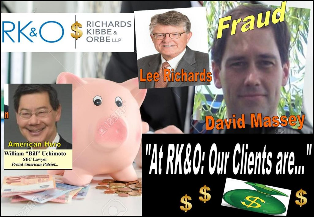 DAVID MASSEY, RICHARDS KIBBE & ORBE, Tracy Timbers, Daniel Zinman, William Uchimoto, Lee Richards, Bill Orbe, Jon Kibbe, Melissa Hodgman, SEC, lawyer, fraud