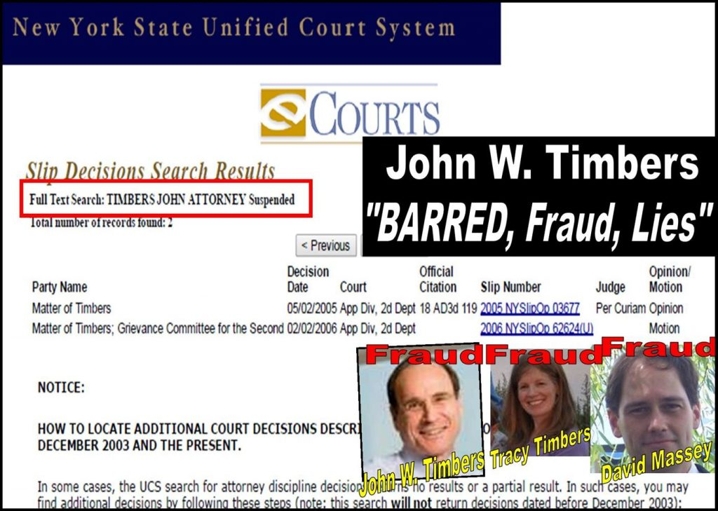 JOHN W TIMBERS, TRACY TIMBERS, DAVID MASSEY, Marilyn Timbers, Adair R Masey, Joe B Massey, barred, Fraud, Daniel Zinman, Lee Ricahrds, Jon Kibbe, Bill orbe, Rowan Gaither, Margaret Meyers, Stephanie Tsay, RKO