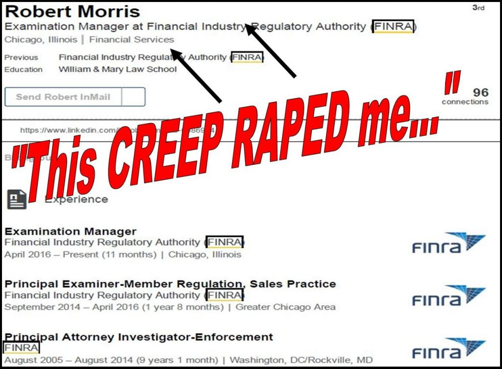 ROBERT MORRIS, FINRA, FINRA NAC, FINRA ENFORCEMENT, EXAMINATION, ALAN LAWHEAD, NICOLE GUERON, MYLES EDWARDS FRAUD