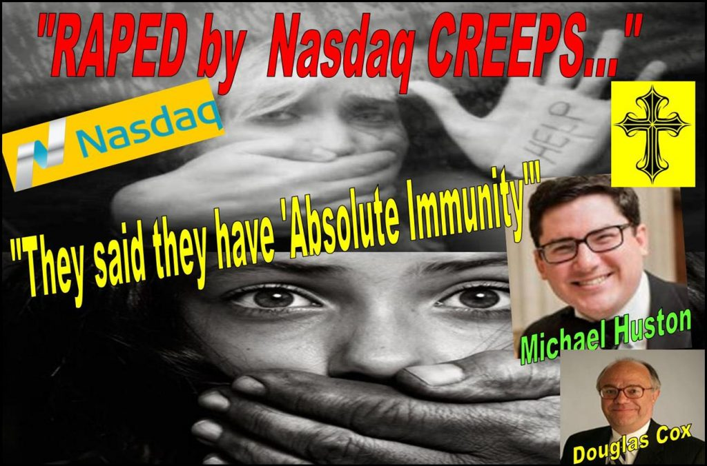 DOUGLAS COX, MICHAEL HUSTON, GIBSON DUNN, Regulatory immunity, absolute immunity, Nasdaq, lawsuit, Ed Knight, William Slattery, Michael Emen, Gary Sundick, David Massey, Richards Kibbe, Tracy Timbers, Chris Brummer